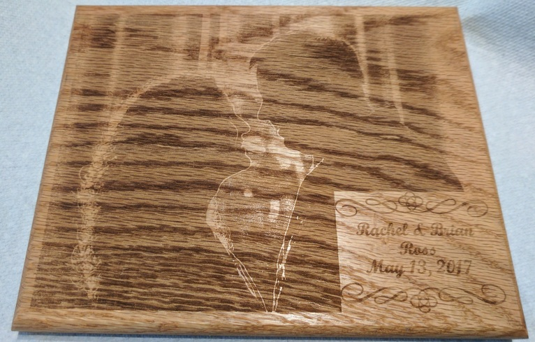 Laser-engraved picture